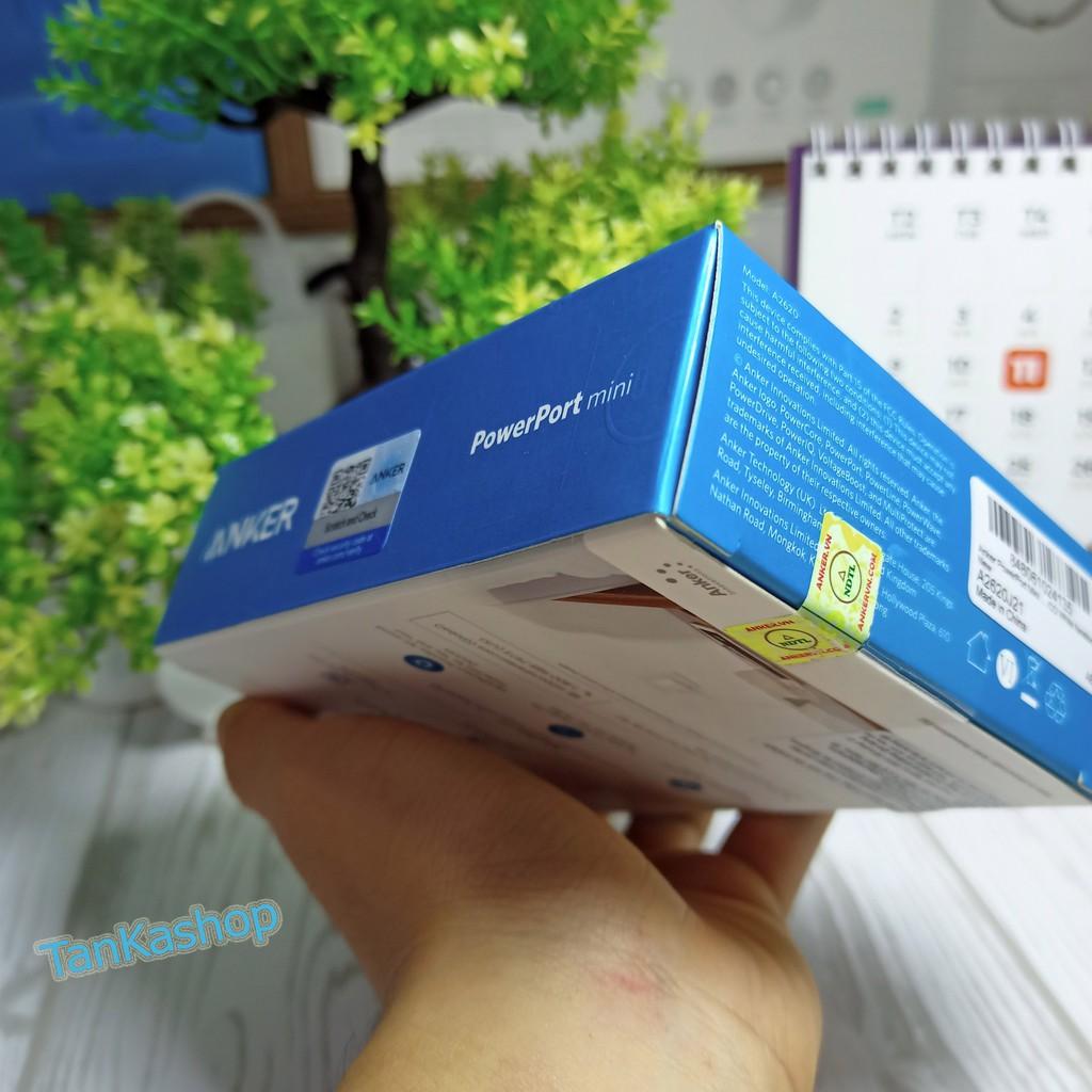 Sạc ANKER PowerPort Mini 2 cổng sạc 12w - A2620