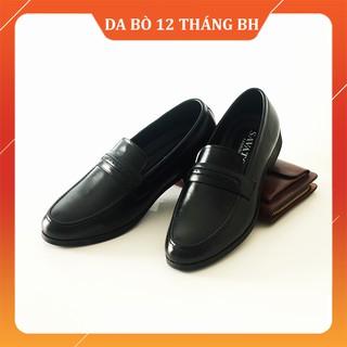 Giày Lười Công Sở [DA BÒ THẬT 100%-TIỀN NÀO CỦA NẤY] Giày lười tăng chiều cao, tặng 2 đôi tất cao cấp, dày dặn - GDC thumbnail
