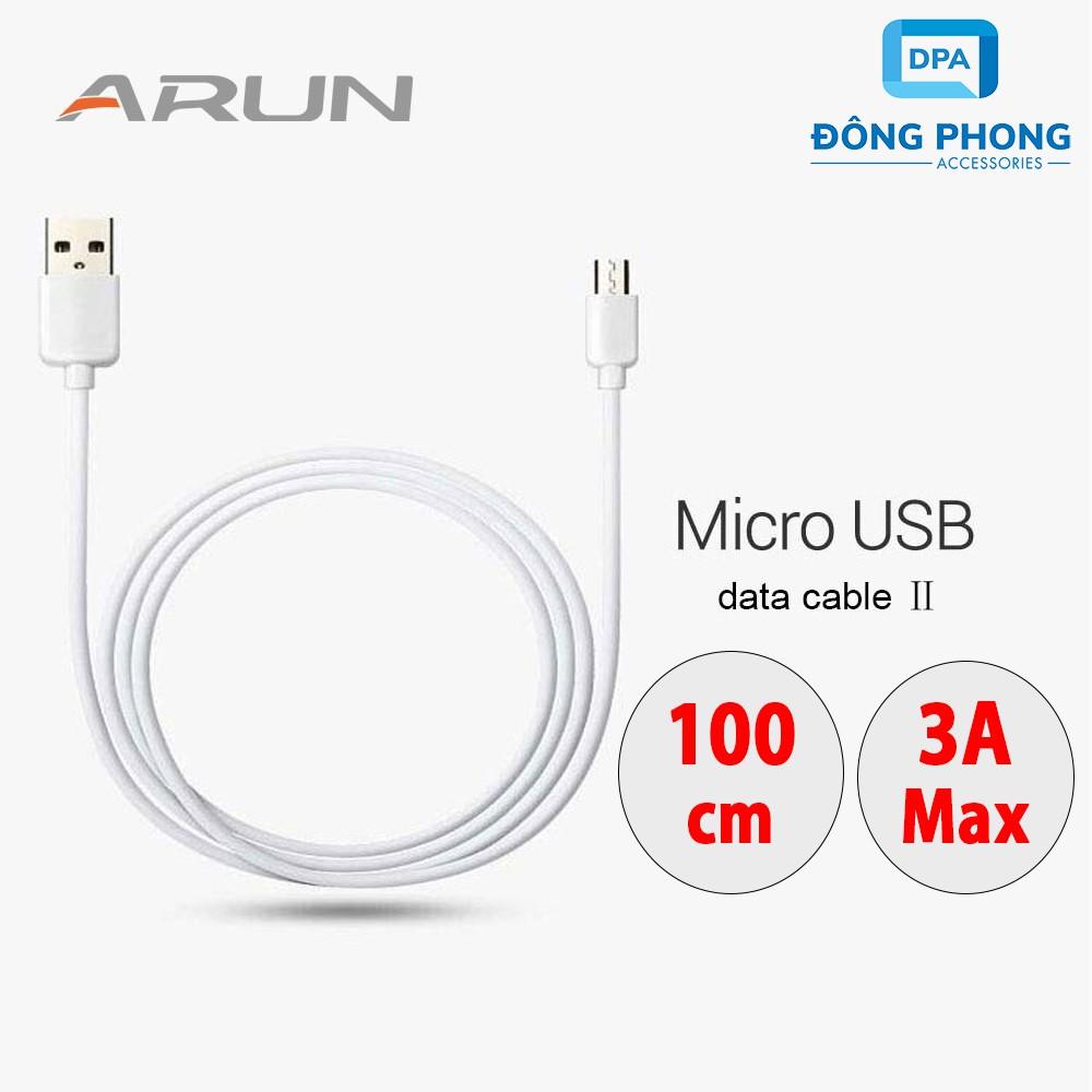 Cáp Sạc Nhanh Arun Cổng Micro USB Chính Hãng