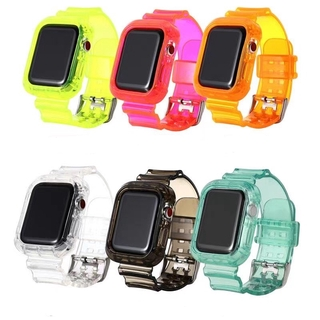 Dây Đeo Tpu Mềm Trong Suốt Cho Iphone Iwatch 1 2 3 4 5 6