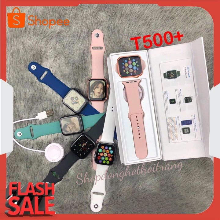 [ Bảo Hành 12 Tháng ] Đồng hồ thông minh T500 Plus Thiết Kế Seri 6 Nghe Gọi Trực Tiếp Màn Hình Tràn Viền 100% Tiếng Việt