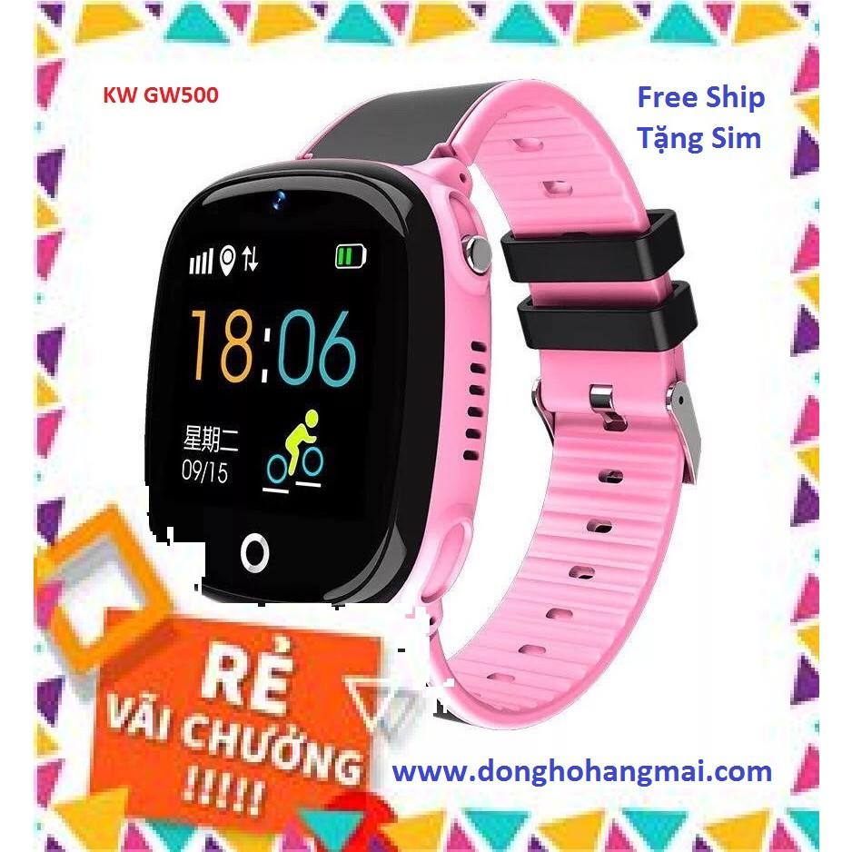 [Free Ship - Mã NGUYMA35 giảm 10K] Đồng Hồ Định Vị Trẻ Em Tiếng Việt Kids Watch GW500_Chống Nước_Camera_Định vị Gps