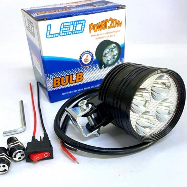 Đèn led trợ sáng L4 ngắn 3 chế độ.