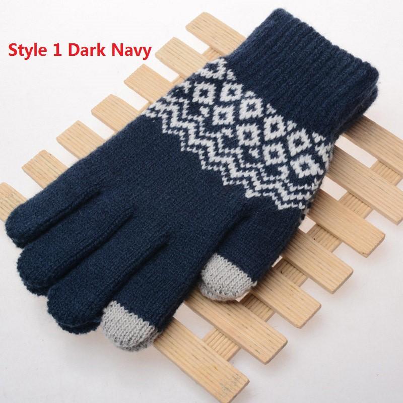 Găng tay dệt kim nhiều màu cảm ứng màn hình điện thoại cho nam nữ