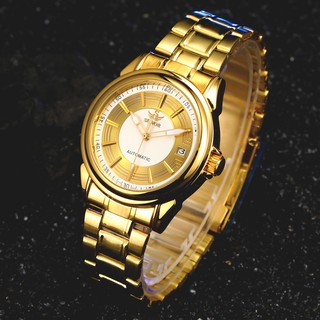 Đồng hồ Nam automatic SEWOR full gold cao cấp SEFG1168
