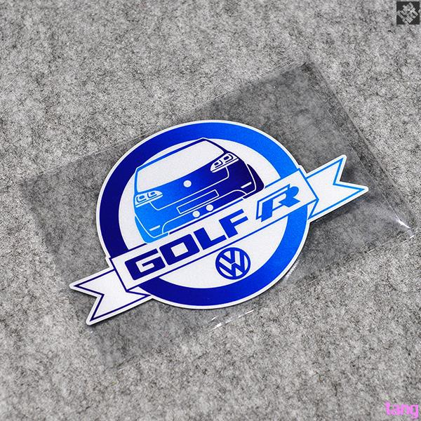 VW Golf R High 7R rear tail glass personalized decorative stickers reflective de