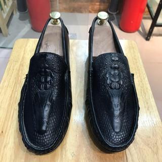 [XẢ KHO] Giày lười nam dập vân cá sấu hơi bụi lẻ size 38