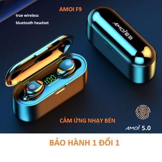 Tai nghe true wireless AMOI F9 | bản QUỐC TẾ | nút cảm ứng | Bluetooth 5.0 | Pin 280 giờ | sạc dự phòng 2000 mha