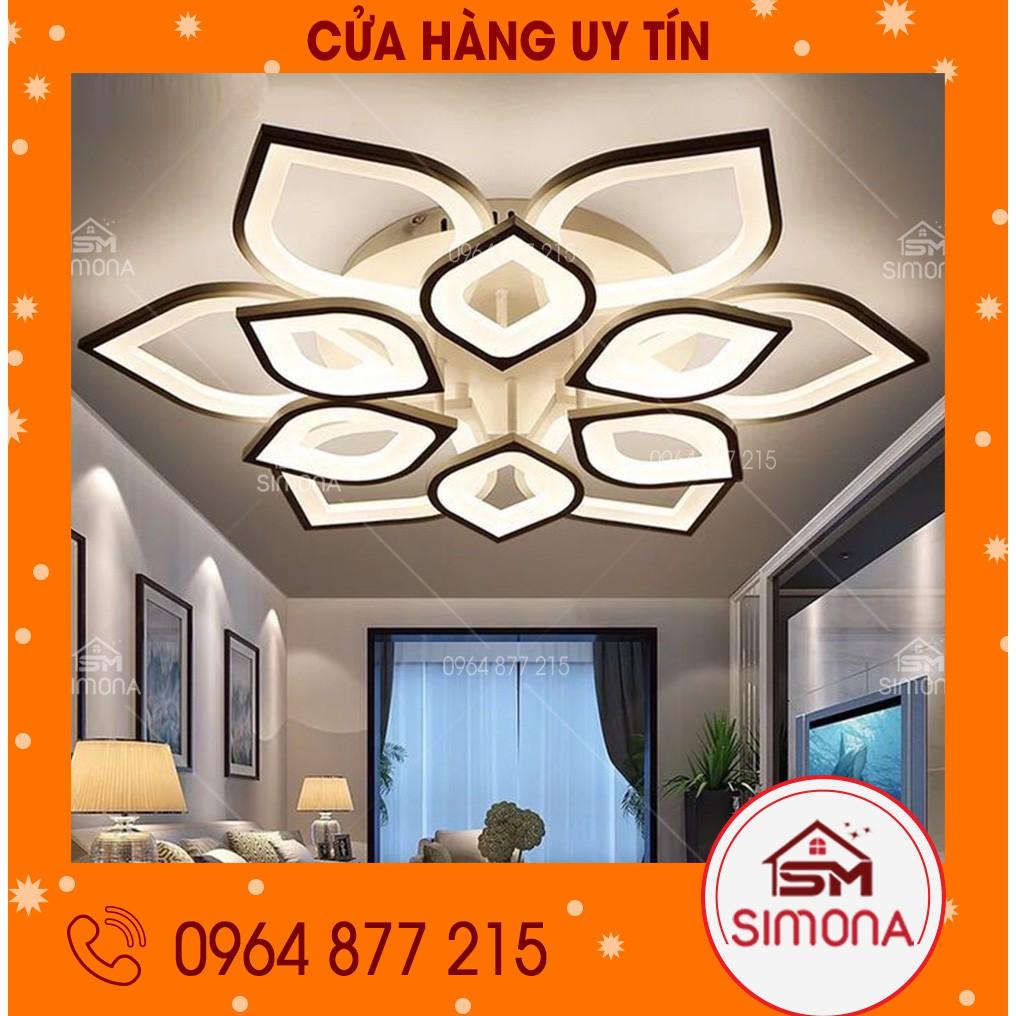 Đèn led ốp trần, đèn trang trí hình hoa sen trang trí nhà ở trong phòng  khách, phòng ngủ SM 2866 - Đèn trần Nhãn hàng No brand