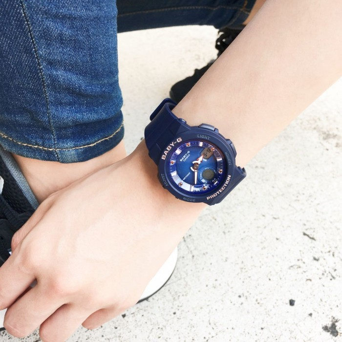Đồng hồ nữ dây nhựa Casio Baby-G chính hãng Anh Khuê BGA-250-2A2DR