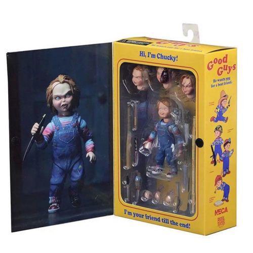 JQAIQ NECA Chucky Good Guy Doll Child's Play Ultimate 4″ Action Figure 1:12 Scale NIB