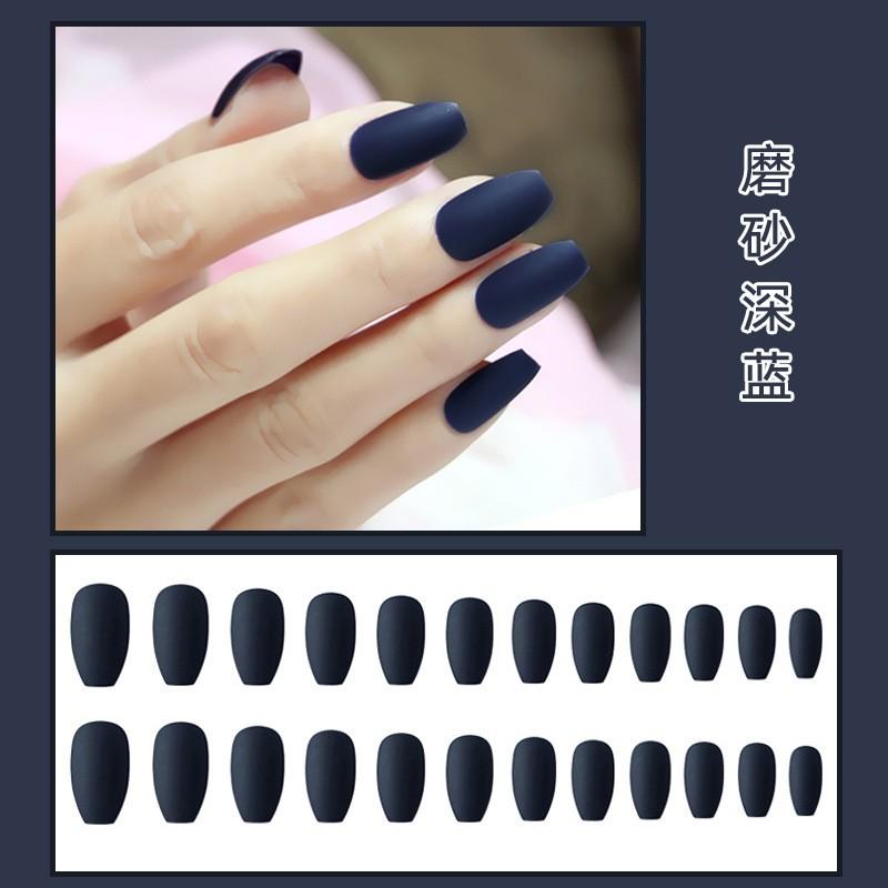 Bộ 24 móng tay giả dài Màu Nhám siêu xinh chống thấm nước - Bộ JP820