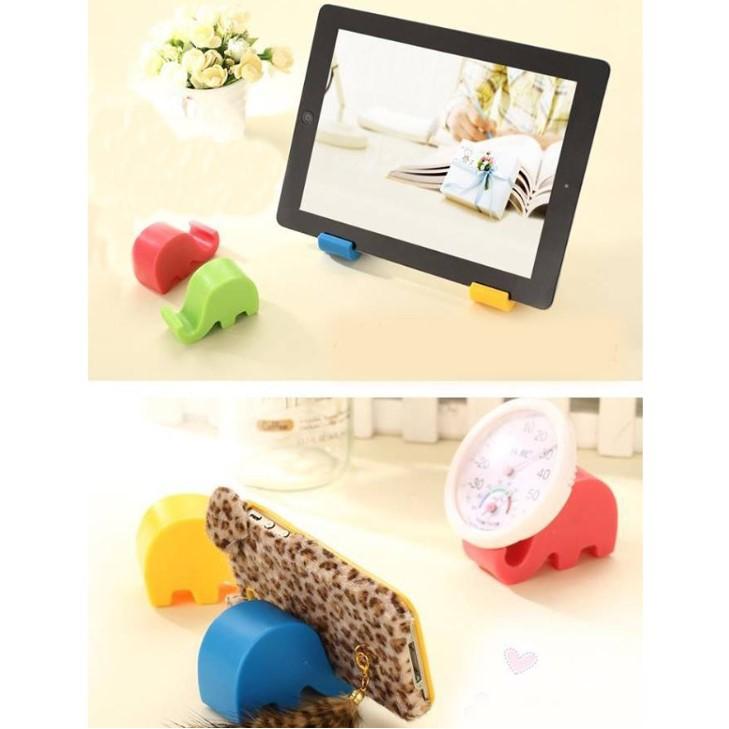 Giá đỡ điện thoại hình voi con cute dễ thương nhiều màu sắc, giá điện thoại mini để bàn