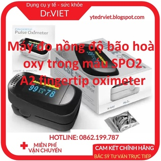 Máy đo nồng độ bão hoà oxy trong máu SPO2 A2 fingertip oximeter- Người lớn và trẻ bị bệnh tim, hen suyễn, huyết áp thấp thumbnail