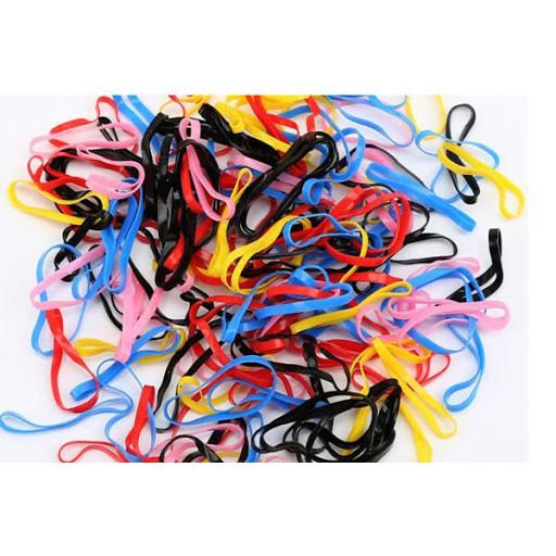 50g chun buộc tóc các màu cho bé túi zip tiện lợi