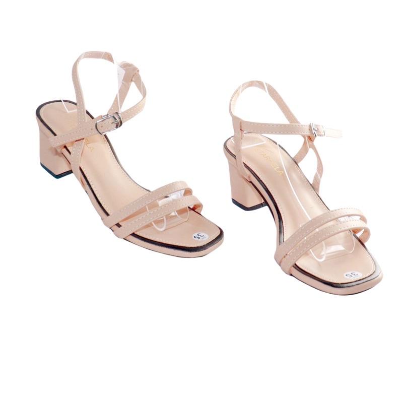Sandal nữ giày cao gót quai mảnh dáng hàn quốc cao 5cm - B52