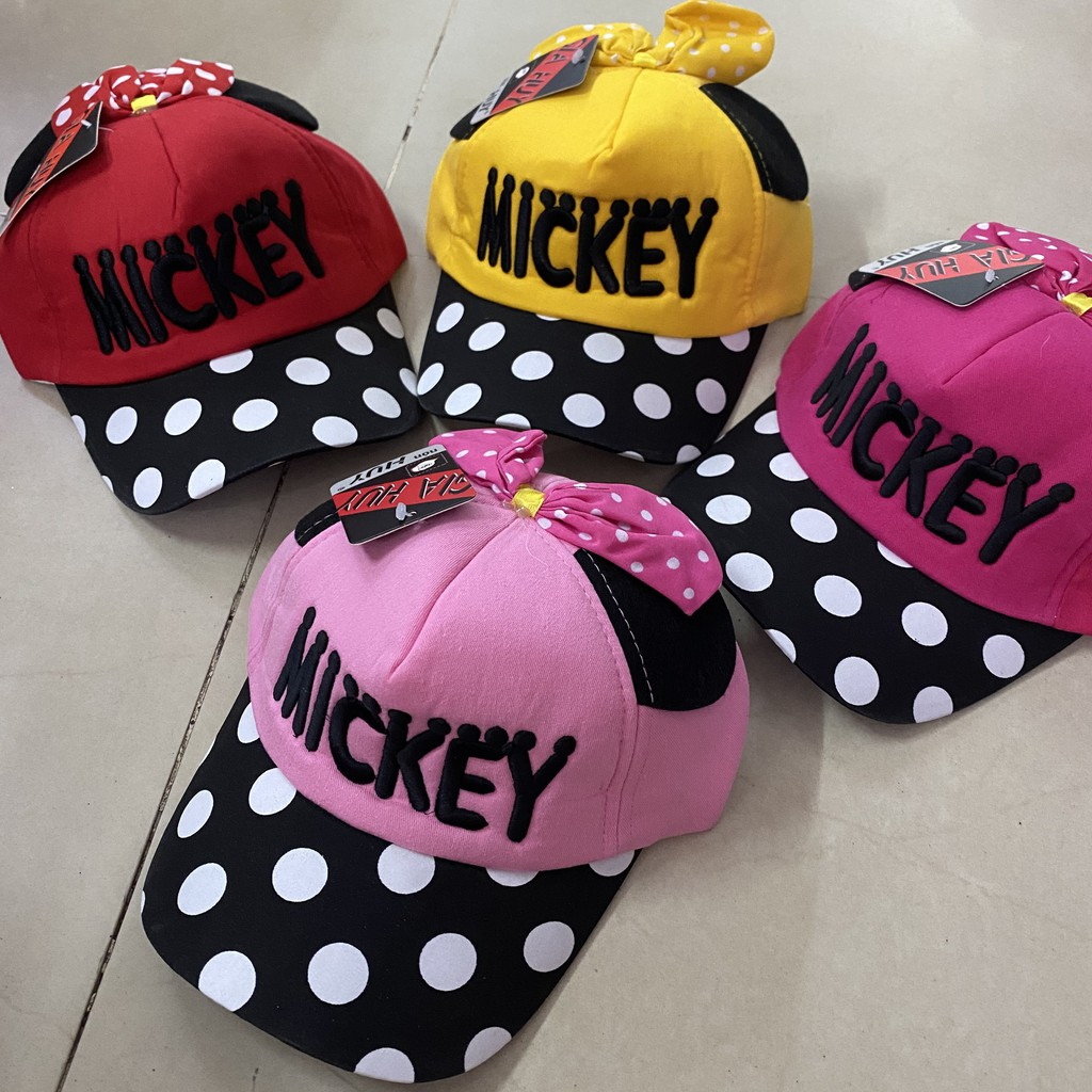 Nón kết MICKEY cho BÉ GÁI,nón lưỡi trai BÉ TRAI Mickey cho bé Yêu