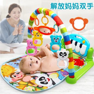 【Ready Stock】 Baby Play Mat Toddler Gym Blanket With Music and Keyboard
