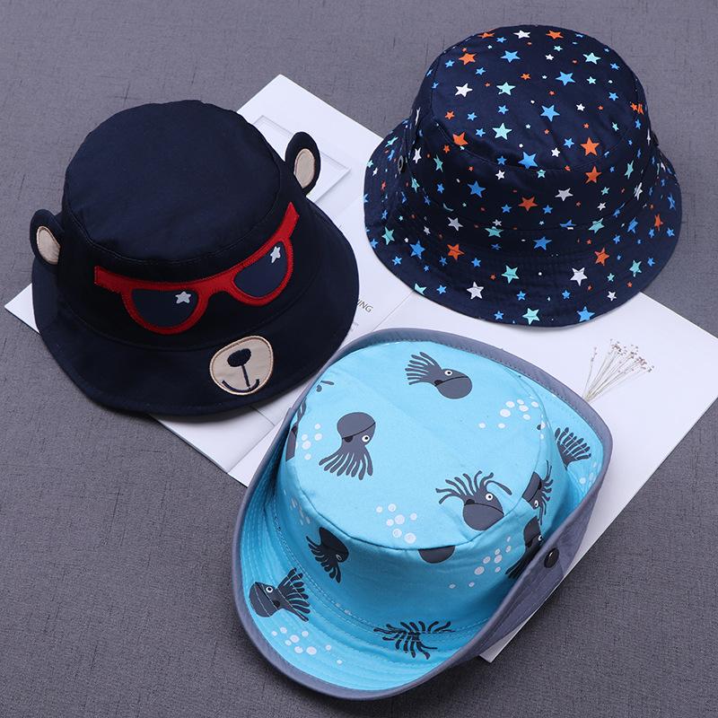 Nón chống nắng cho bé [1 -3 Tuổi], nón trẻ em rộng vành thời trang dễ thương bé trai, bé gái, mũ ngư dân hoạt hình