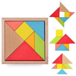 Trí uẩn – Trò chơi trí tuệ Tangram – Đồ chơi gỗ 11.5*11.5cm
