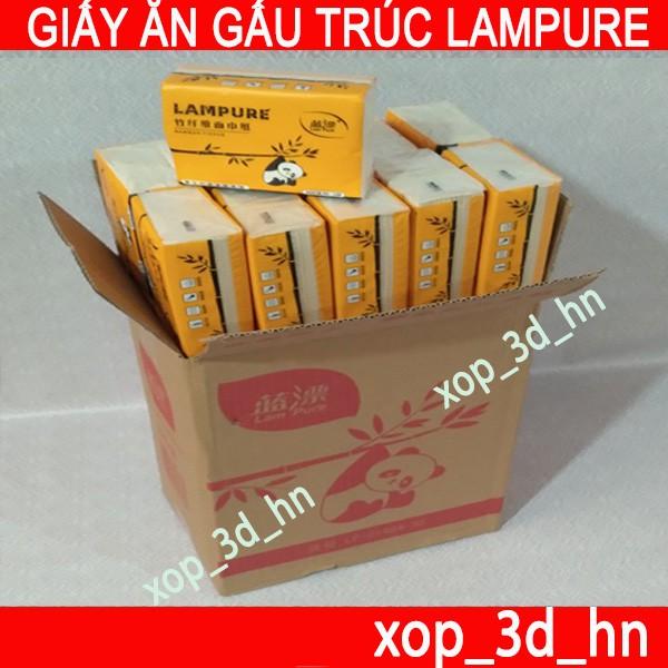 Thùng 30 gói Giấy ăn Gấu Trúc hiệu Lampure Siêu Dai, Siêu mềm, Siêu thấm (300 Tờ/gói)
