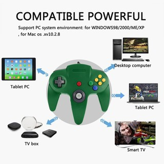 Good USB Wired Gaming Gamer Gamepad Computer PC Gaming Controller-Green