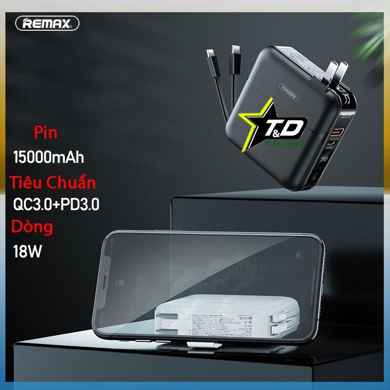 Remax RPP-20 Sạc dự phòng remax RPP-20 dung lượng 15.000mAh - Cốc sạc kiêm pin dự phòng hỗ trợ sạc nhanh 18w cắm điện