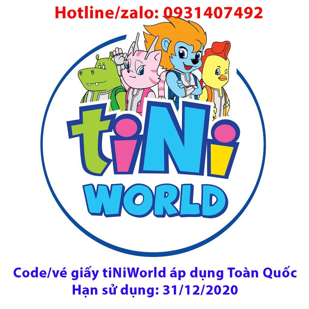 Toàn Quốc [E-Voucher] 02 Vé điện tử tiNiWorld vào cổng các trung tâm toàn quốc tất cả các ngày không bù tiền