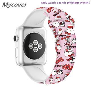 Dây Đeo Silicon In Hình Hello Kitty Cho Đồng Hồ Thông Minh Apple Watch Series 6 SE 5 4 3 2 1 38 42 40 44mm