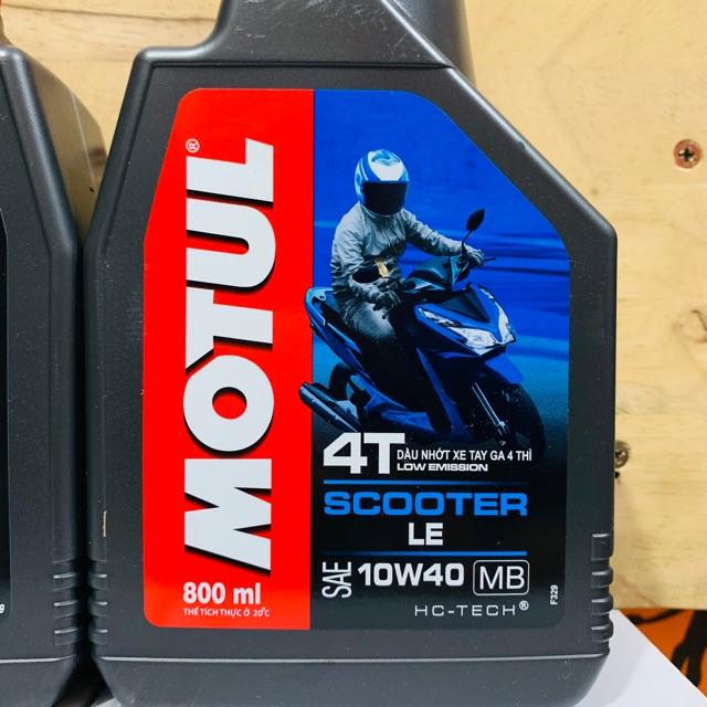 Nhớt Xe Tay Ga Motul Scooter Le 4T 10W-40 800ML - Sản Phẩm Của Motul Việt Nam