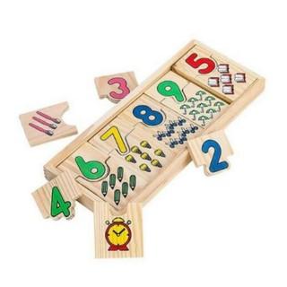 Bộ ghép hình gỗ giúp bé học số và lượng DC25
