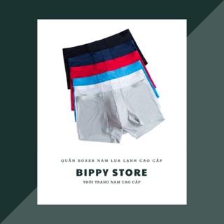 Quần lót nam boxer, quần sịp nam lụa lạnh mát mẫu mới CNBS001 Bippy Store
