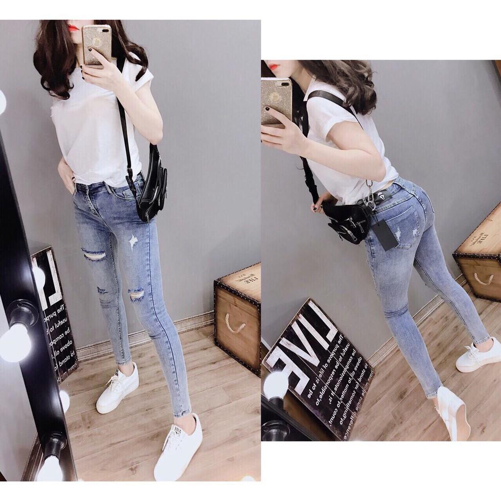 Quần jean nữ dài xanh QJU026 [Sale off 2019]