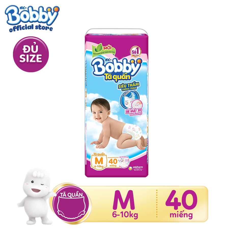 [Đủ size] Tã quần siêu thấm BobbyM40/L36/XL32/XXL28