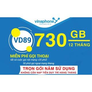 Bán Sim 4G Vina VD89 12 Tháng – Trọn gói 1 năm mỗi ngày 2Gb gọi miễn phí nội mạng và 50 phút ngoại mạng