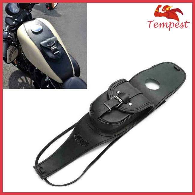 Motorcycle PU Leather Fuel Tank Panel with Pouch for Harley Sportsterfor Harley Sportster