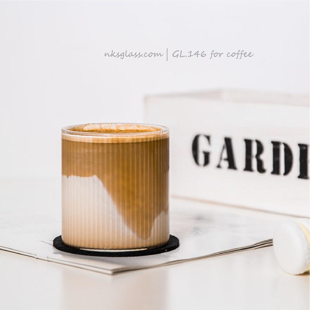 Ly thủy tinh - Ly latte caramel NKS.GL146 size 300ml - Nks.Home