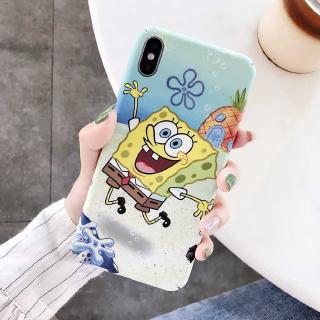 iphone 6 6S 6Plus 6Splus 7 8 7Plus 8Plus X XS XR XSMAX 11 11Pro 11Promax SPongeBob Hard Case Ultra-thin Phone Cover