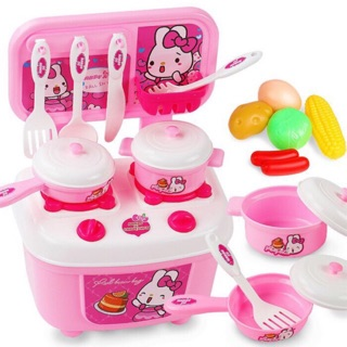 Bộ đồ chơi nấu ăn nhà bếp có bàn bếp kèm rau củ cao cấp dành cho bé muốn tập làm đầu bếp