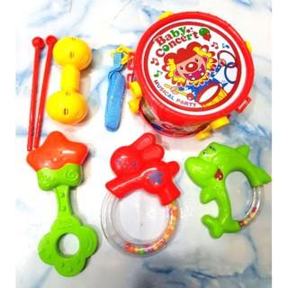 Đồ chơi trẻ em bộ trống lục lạc, xúc xắc cho em bé