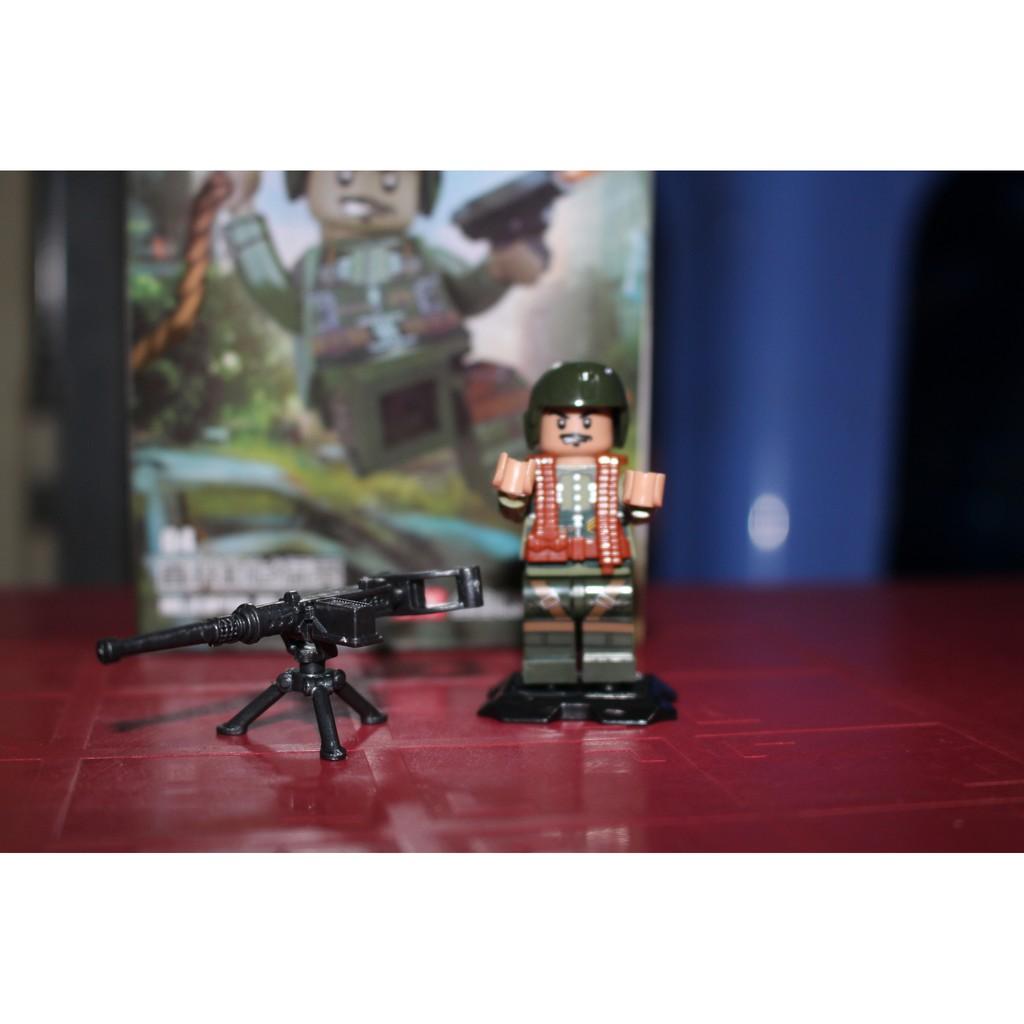 mô hình lắp ghép lepin-bộ 8 lính viêt nam