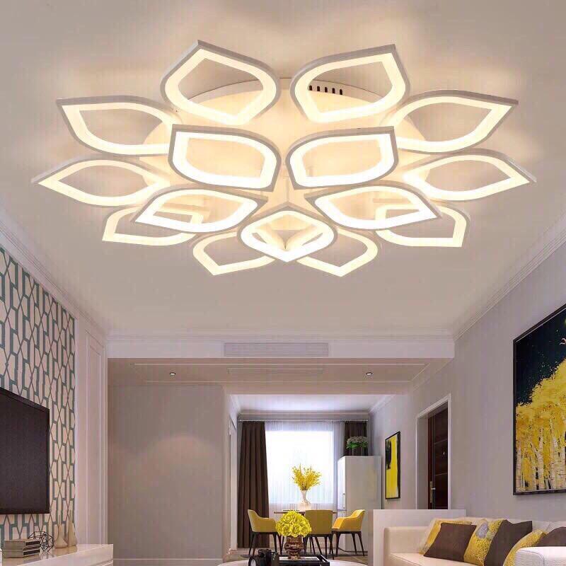 Đèn Ốp Trần LED Trang Trí Phòng Khách 3 Chế Độ Sáng_Có Điều Khiển Phân tầng 3 Chế độ sáng