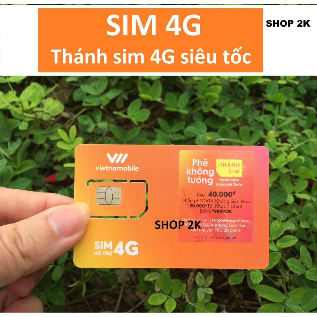 Thánh sim 4G Vietnamobile MỚI - Siêu thánh sim Free 120Gb/tháng