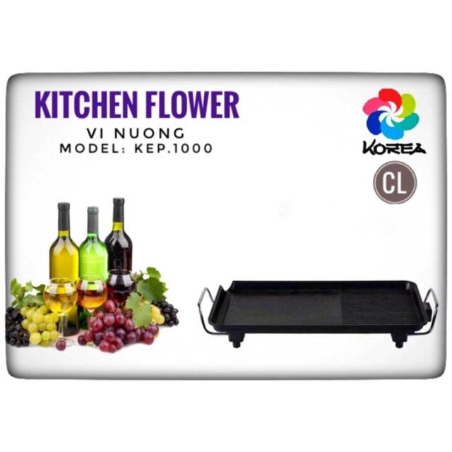 Hàng chính hãng - Vỉ nướng điện Hàn Quốc Kitchen Flower Kep-1000