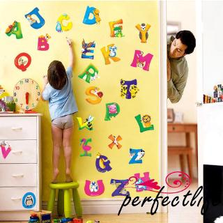 ★HZLA-Z Alphabet&Animals Wall Sticker Mural PVC Decals Kids Baby Nursery Decor
