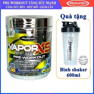 [TẶNG BÌNH] Pre-Workout Vapor X5 của MuscleTech tăng sức mạnh sức bền trước tập 30 lần dùng thumbnail