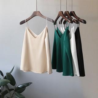 AOO7[GIÁ XƯỞNG] Aó hai dây lụa satin mặc nhà hoặc đi chơi,chất liệu vải mềm mịn thoáng mát