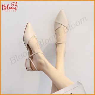 Giày sandal nữ 3 phân đế vuông Giày sandal nữ BLOOMFASHION đi học cao cấp bít đầu G01 thumbnail
