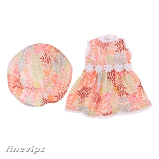 "Doll Clothes Dress Skirt with Matching Hat for 18""Ameircan Girl Doll"