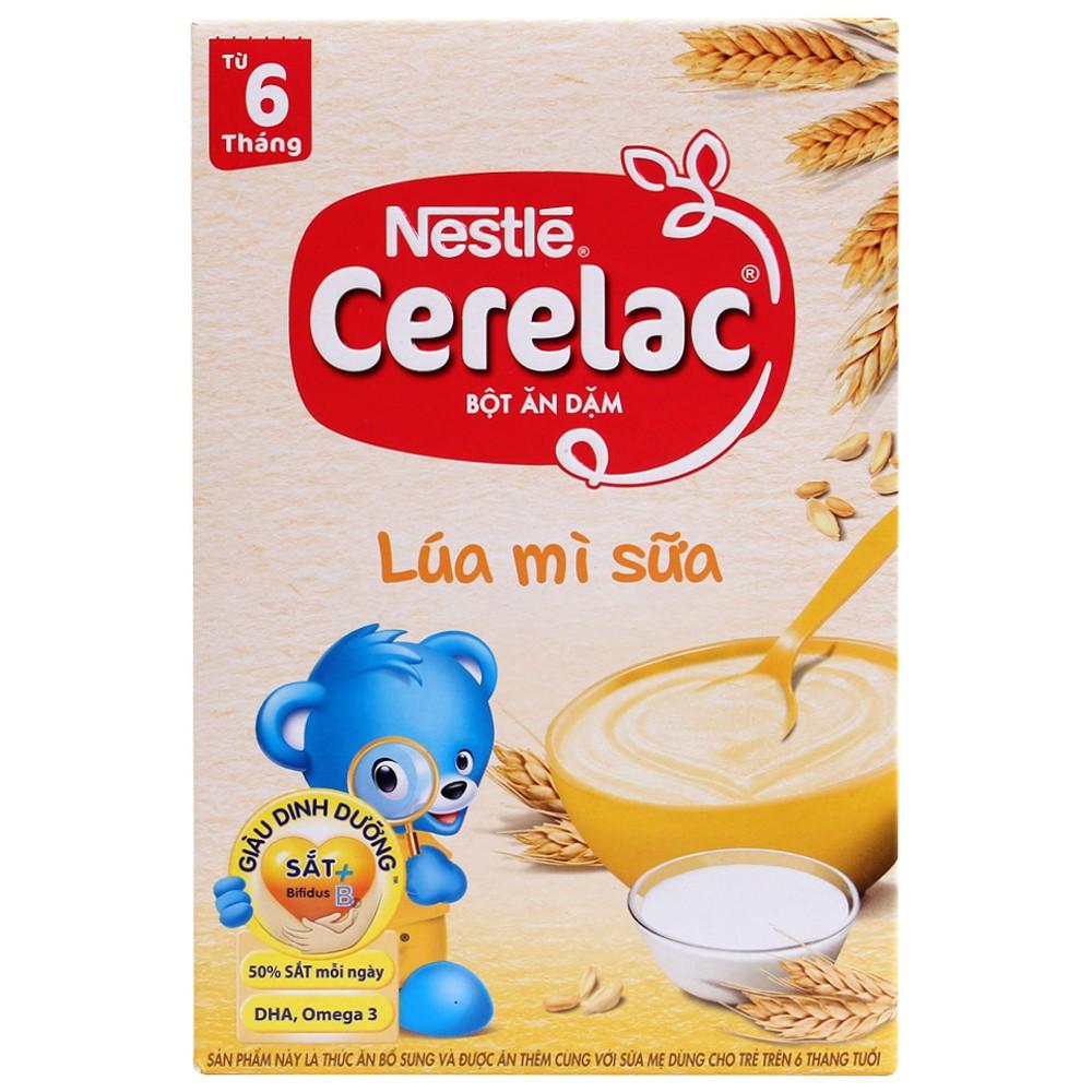 [CHÍNH HÃNG] Bột Ăn Dặm Nestle Cerelac Lúa Mì Sữa Hộp 200g